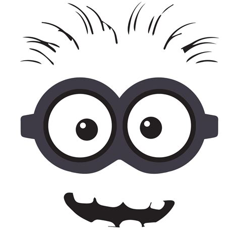 minion eyes printable black and white minion clip art free back gt gallery for gt despicable me