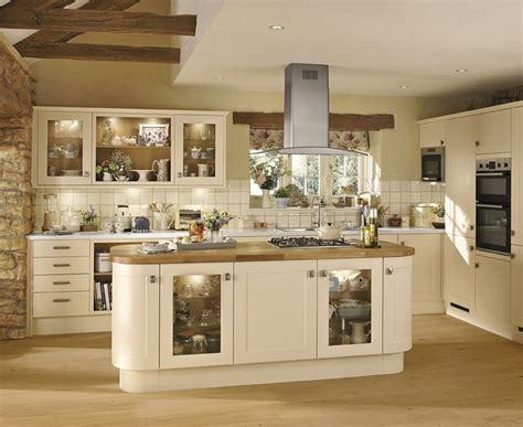 Open Kitchen Cupboard Ideas by Burford Cream Kitchen Shaker Kitchens Howdens Joinery