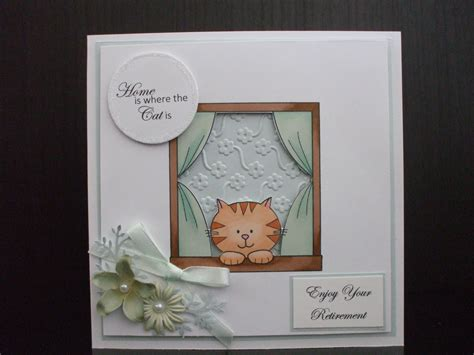 Handmade Retirement Cards - handmade retirement card cat lover digist boutique