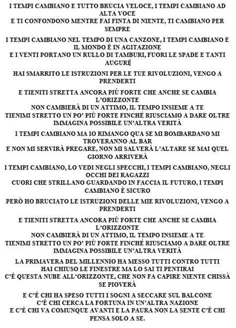 testi canzoni di ligabue ligabue firma il nuovo singolo dei negrita i tempi