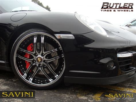 porsche black rims 997 savini wheels