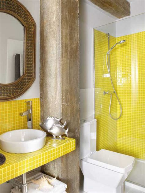 Yellow Tile Bathroom Ideas by 29 Yellow Mosaic Bathroom Tiles Ideas And Pictures
