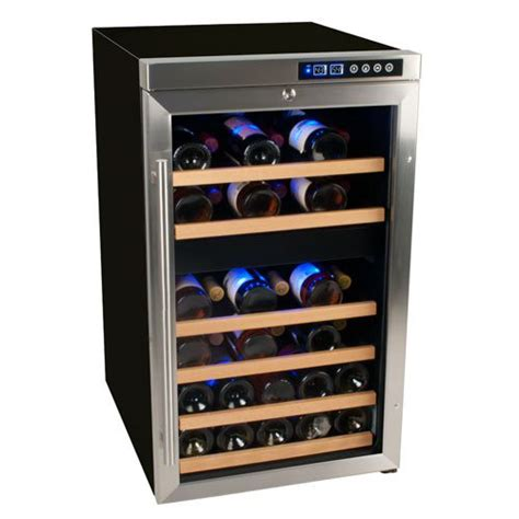 To Market Recap Wine Cooler by Edgestar 34 Bottle Free Standing Dual Zone Wine Cooler