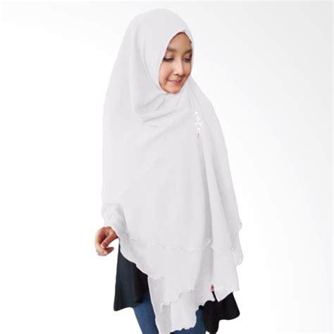 jual milyarda hijab oki panjang kerudung syari putih