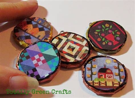 Recycle Paper Craft - pendants from newspapers recycled crafts paper