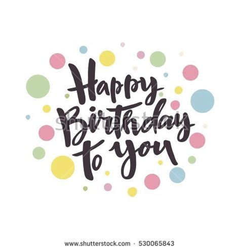 happy birthday art design happy birthday card design stock vector 530065843