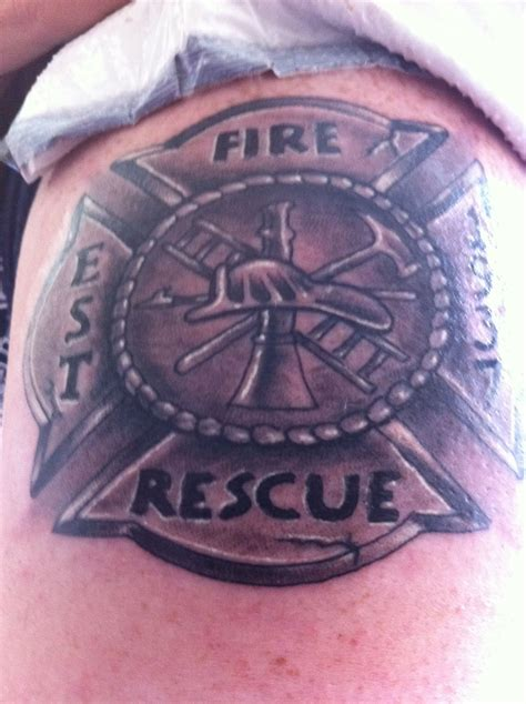 firefighter cross tattoos on my arm of the firefighter maltese cross the
