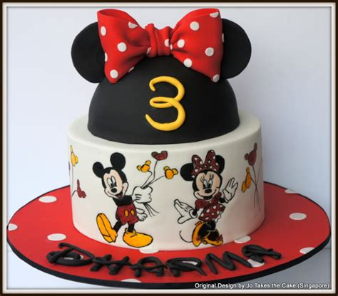 Disney Home Decorations Hand Painted Minnie And Mickey Mouse Cake Cakecentral Com