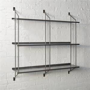 modular wall shelving stretch modular wall shelf cb2