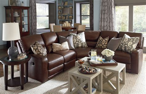 bassett kennedy sofa marvelous leather reclining sectional in living room