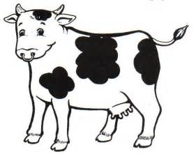 vaca coqueta colouring pages