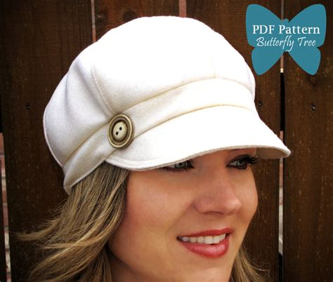 sewing pattern hat free newsboy hat sewing pattern reversible unisex adult sizes