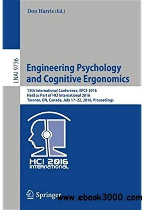 engineering psychology  cognitive ergonomics  ebooks