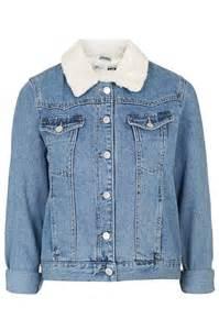 petite borg denim jacket topshop