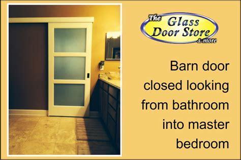 barn door bathroom privacy a privacy sliding glass barn door for a bathroom the