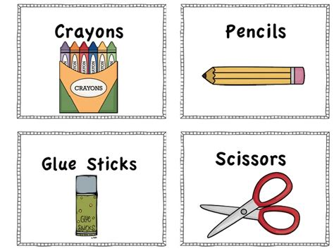 googlecom list of free catalogues regarding art and paintings for home freebie school supply labels to print classroom school supply labels school