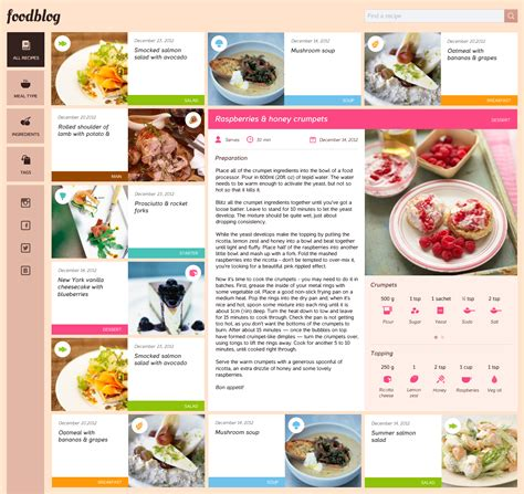 food blog free template psd download download psd