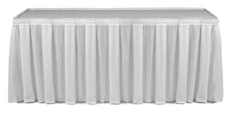 table skirting white boxpleat catering equipment hire