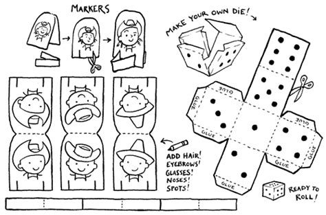 free printable board game pieces wonderland crafts create your own board game