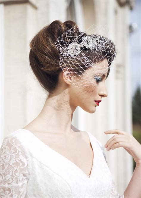 vintage wedding hairstyles with birdcage veil 1000 images about wedding hair and veils on