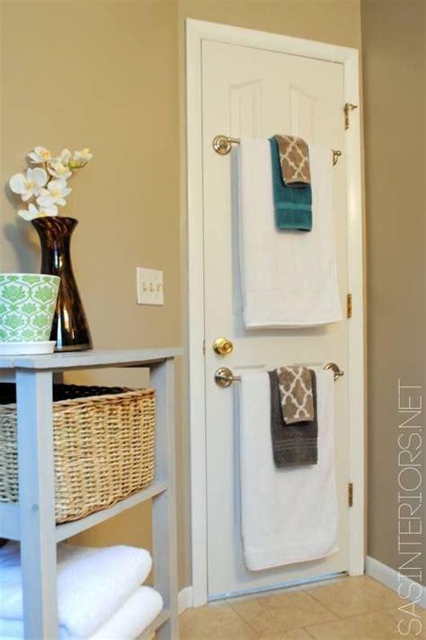 Towel Rack On Back Of Door by Towel Bars On Back Of Bathroom Door For The Home