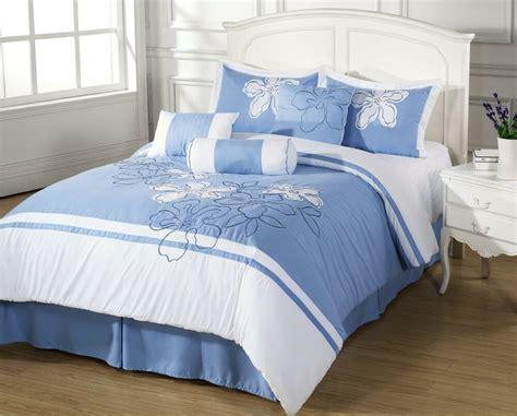 King Bedding by Sale Cielo 7pc Comforter Set Light Blue Floral