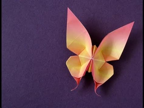 Swallowtail Butterfly Origami - origami swallowtail butterfly version