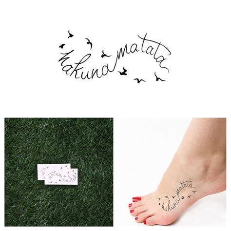 infinity hakuna matata temporary tattoo set of 2 by tattify