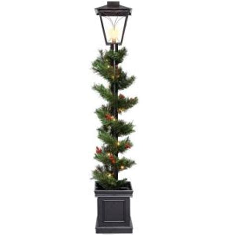 l post garland with lights national tree company 5 ft decorative collection noble