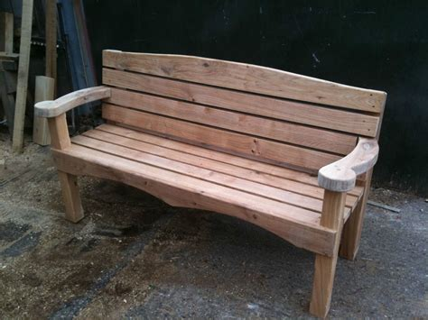 Handmade Garden Bench - handmade bilmor oak hardwood garden bench seat memorial