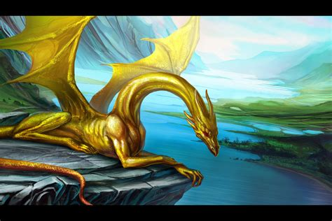 wallpaper gold dragon golden dragon by anndr blackandgold