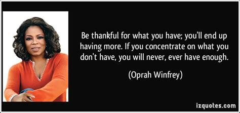 aptoide you don t have enough be thankful oprah winfrey quotes quotesgram