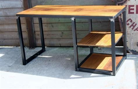 le de bureau industrielle bureau metal bois bureau moderne pas cher lepolyglotte