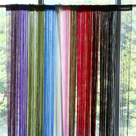 yarn curtains 2m 1m 12 colors string curtains door window panel curtain