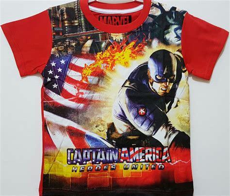 kaos anak captain america heroes united 1 6 marvel grosir eceran baju anak murah berkualitas