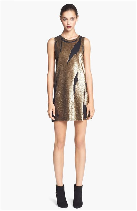 Asos Bring Us Another Style Gold Sequin Dress by Robert Rodriguez Distressed Sequin Dress In Gold Lyst