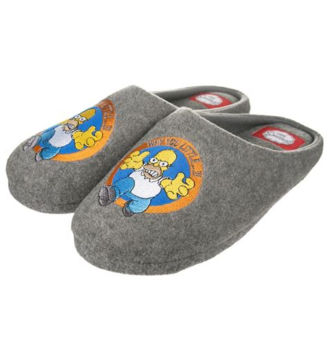 homer simpson house shoes men s grey homer simpson why you little slippers ebay