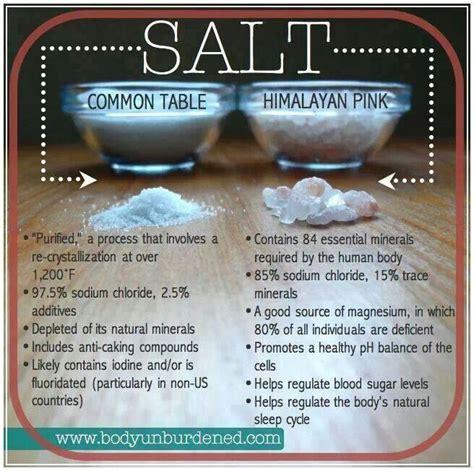epsom salt vs table salt table vs himalayan sea salt attaining maintaining