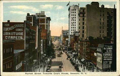 newark court house market street towards court house newark nj postcard