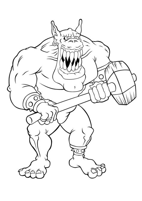 trolls   scary scary coloring pages