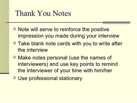Thank You Letter For Mock Residency Interviewing