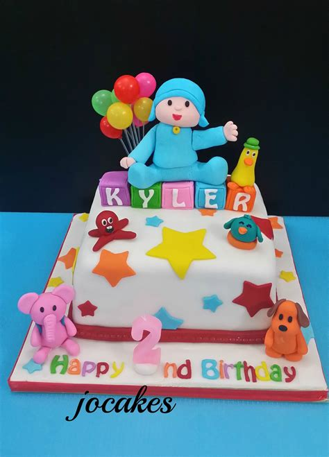 pocoyo birthday cake pocoyo cake jocakes
