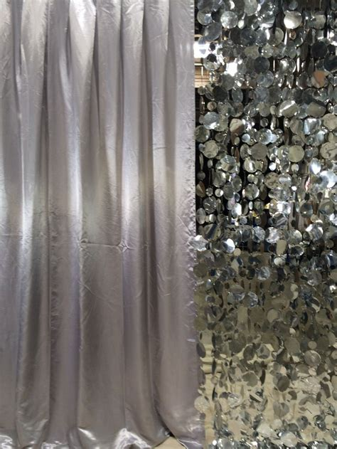 Silver Valance Curtain Silver Curtains Dazian Silver