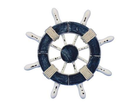 boat accessories los angeles wholesale rustic dark blue and white decorative ship wheel