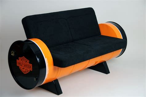 Sofa Dari Drum vintage style sofa made out of two reclaimed drums