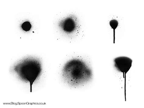 spray paint brush photoshop free free hi res spraypaint photoshop brushes set two