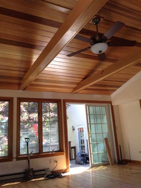Cedar Ceiling Cedar Ceiling Traditional Family Room Boston By