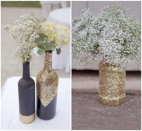 diy glitter vases onewed
