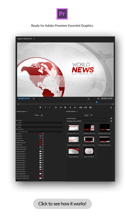 Broadcast News Essential Graphics Mogrt By Premiumilk Videohive Premiere Pro Essential Graphics Templates
