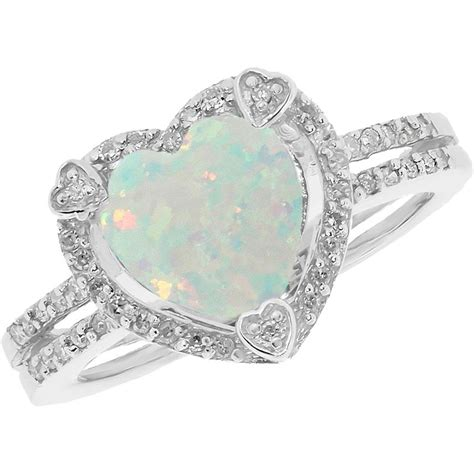 october birthstone opal diamonds custom sterling silver created opal birthstone ring with